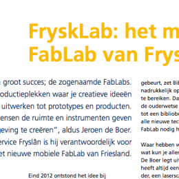 Artikel FryskLab in NoordNieuws, magazine van VNO-NCW Noord