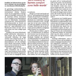 'Friese bieb scoort in Amerika' (artikel Leeuwarder Courant)